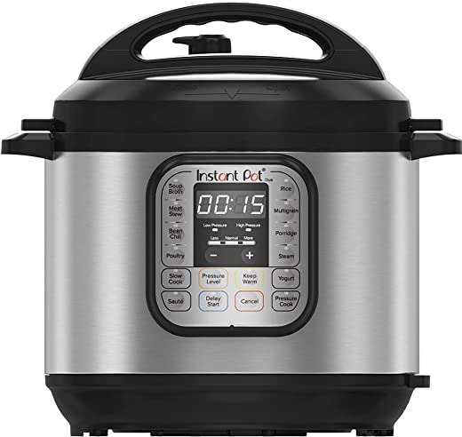 Instant Pot Duo Mini 7-in-1 Electric Pressure Cooker, Slow Cooker, Rice Cooker, Steamer, Saute, Yogurt Maker, Sterilizer, and Warmer, 3 Quart, 14 One-Touch Programs