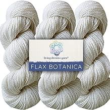 Living Dreams Flax Botanica DK Yarn. Elegant Merino Linen Silk. Cruelty Free & Responsibly Sourced. Pacific Northwest Handmade. Bulk Discount Pack, Pearl