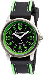 Jacques Farel Boy's Quartz Kids Watch analog Display and Silicone Strap, SST111