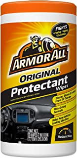 Armor All Car Interior Cleaner & Protectant Wipes - Cleaning for Cars & Truck & Motorcycle, 50 Count, 10834