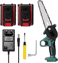 Motosserra elétrica, Tomshin Mini serra de poda elétrica portátil de duas baterias de 21V Mini serra elétrica recarregável...