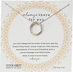 Always There For You, Crystal Poesy Ring Necklace