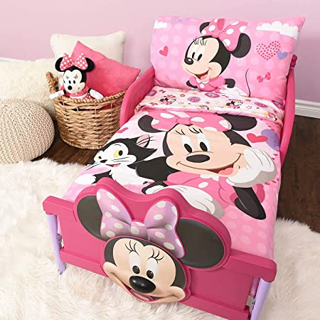 "Minnie Mouse Microfiber Sheet Set Toddler 3 Pcs Bedding Set 52"" x 28"""