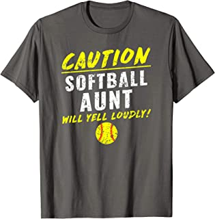 Funny Girls Fastpitch Softball Aunt T Shirt T-Shirt
