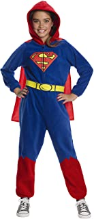DC Super Heroes Girl's Superman One-Piece Costume Jumpsuit, Large