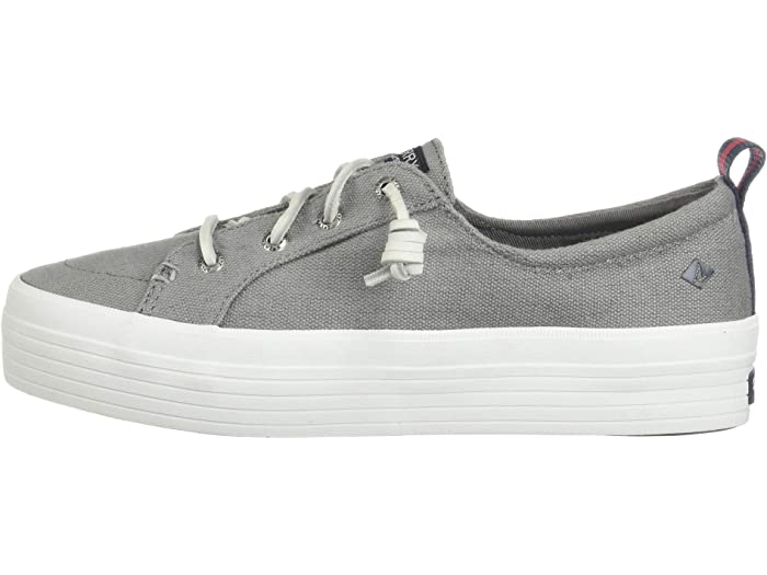 sperry grey canvas boat shoes