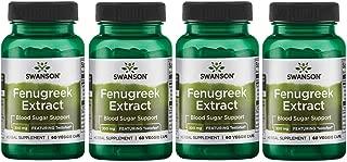 Swanson Fenugreek Extract - Featuring Testofen 300 mg 60 Veg Caps 4 Pack