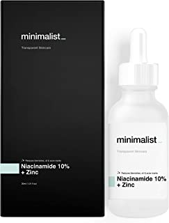 Minimalist Niacinamide 10% + Zinc Face Serum, 30ml - Reduces Blemishes and Acne Marks