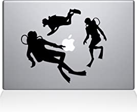 "The Decal Guru 2063-MAC-13P-BLA Scuba Divers Decal Vinyl Sticker, Black, 13"" MacBook Pro (2015 & Older)"