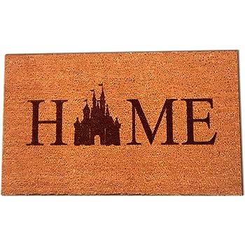 "Castle Home Laser Engraved Coir Fiber Doormat 30"" x 18"""