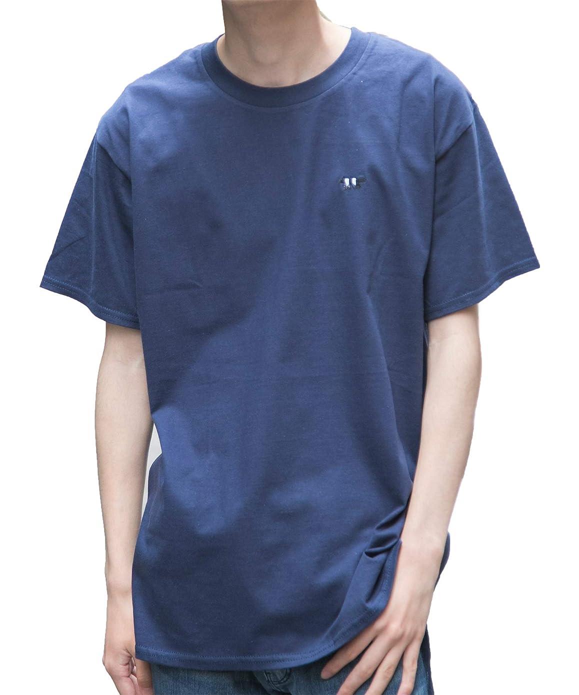 信頼湿原気取らない[セカンドルーツ] ストライプジャガー 半袖 メンズ ユニセックス ジャガー刺繍 綿 カットソー ストライプ ジャガー Tシャツ