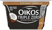 Dannon Oikos Triple Zero Blended Nonfat Greek Yogurt, Coconut Creme, 5.3 oz. Single Serve