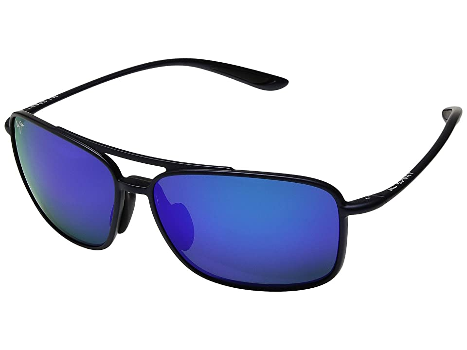 Maui Jim Kaupo Gap (Matte Blue/Blue Hawaii) Athletic Performance Sport Sunglasses