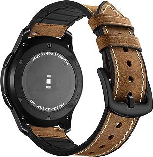Aottom Compatible con Correa Galaxy Watch 46mm, Cuero Correas Samsung Gear S3 Frontier Banda 22mm Smartwatch Pulseras Repu...