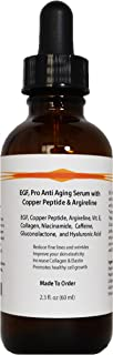 EGF, Pro Anti Aging Serum with Copper Peptide, Argireline, and Hyaluronic Acid (2.3oz)