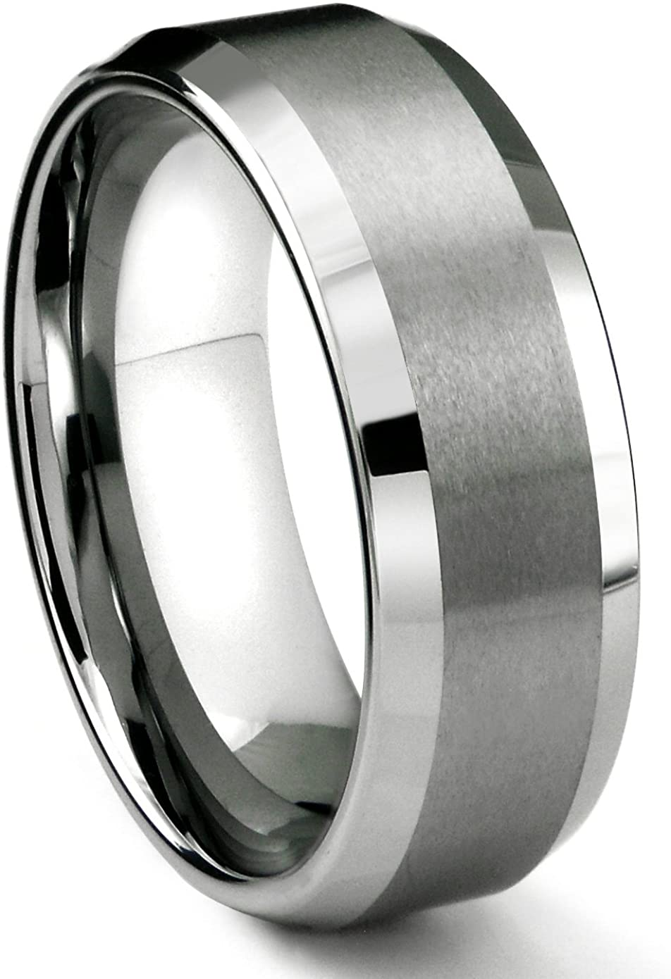 8MM Tungsten Now on sale Metal Men's Wedding Band Comfort Ma Limited price sale in and Fit Ring
