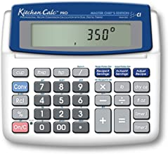$34 » Calculated Industries 8305 KitchenCalc PRO Recipe Conversion and Culinary Math Calculator with 2 Digital Timers for Chefs,...