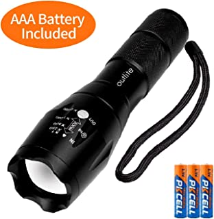 outlite A100 Portable 2000 Lumens Handheld LED Flashlight with Adjustable Focus and 5..