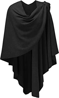 Womens Large Cross Front Poncho Sweater Wrap Topper for Cold Weather| Air Conditioned Places
