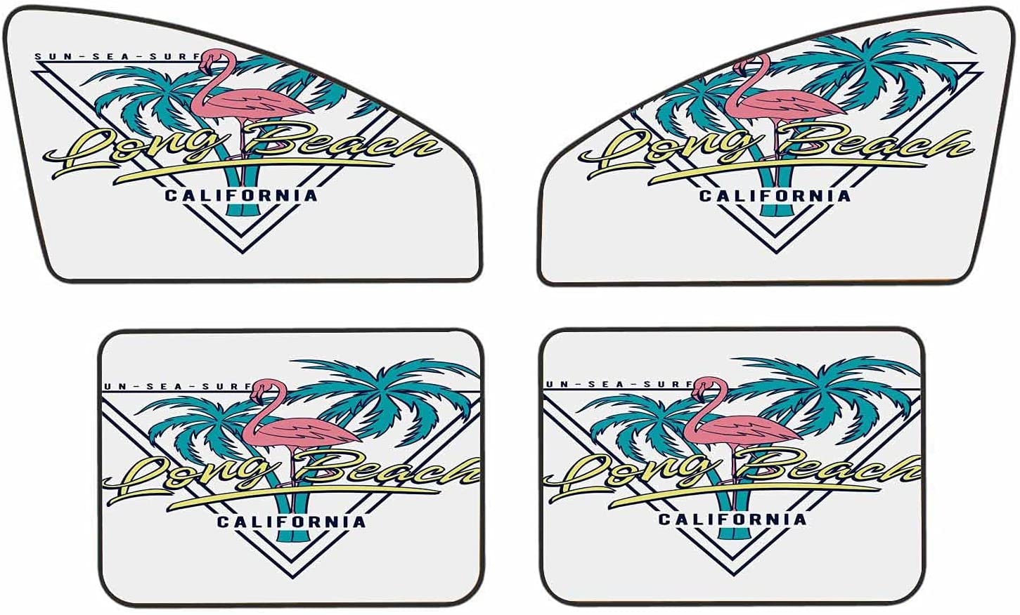 WONDERTIFY Flamingo Car Sun Shades Long Beach Max 62% OFF Gorgeous Elements Tropical