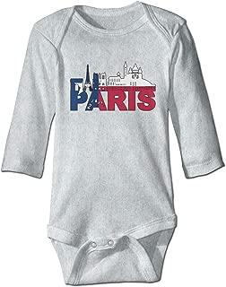 Infant Baby Girls Long Sleeve Climb Romper Cath/édrale Notre Dame De Paris with Texas Flag Playsuit Outfit Clothes