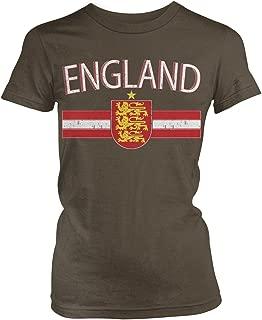 Amdesco Junior's England Flag Colors and Lion Crest T-Shirt