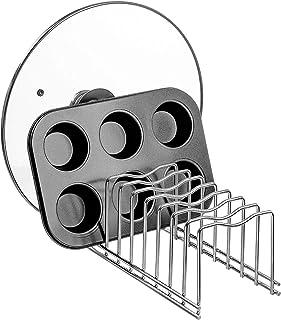SANNO - Soporte para secar y organizar tapas de cazuelas y platos, para la cocina, despensa y armario
