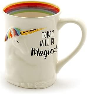 "Enesco 6000548 Our Name Is Mud ""Magical Unicorn"" Stoneware Sculpted Coffee Mug, 16 oz, Multicolor"