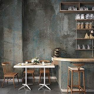 Industrial Wind Wallpaper Sandstone Retro Nostalgia Cement Gray Waterproof Clothing Store Restaurant Bar Wallpaper (Color...