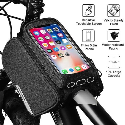 7b96d53616feb WOTOW Cycling Frame Pannier Cell Phone Bag