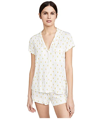 Eberjey Giving PJ Short PJ Set (Pineapples/Bellini) Women