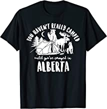 Camping in Alberta Shirt Outdoors Bear Moose Mountain Lion