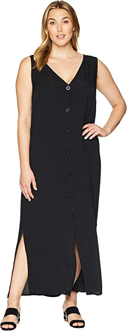 Plus Size Florence Sleeveless Button Up Dress
