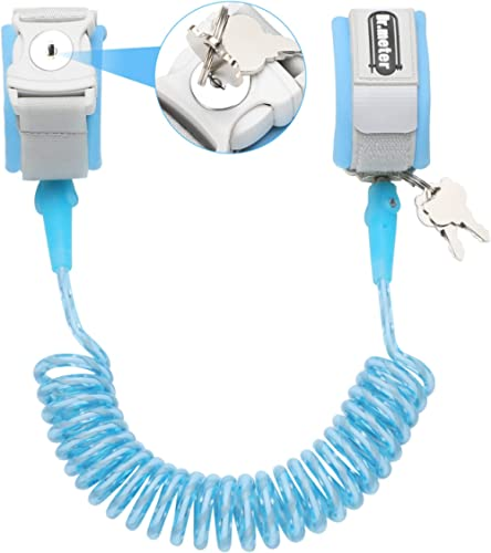 Toddler Leash, Dr.meter Anti Lost Wrist Link Secure Walking Harness with Key Lock for Kids Baby, 2.5M / 8.2ft Safety ...