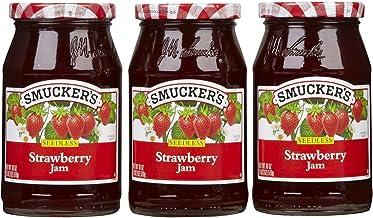 Smucker's Seedless Strawberry Jam, 18 Ounce, Pack of 3