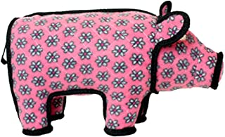 TUFFY - World's Tuffest Soft Dog Toy - Barnyard Pig- Multiple Layers. Made Durable, Strong & Tough. Interactive Play (Tug, Toss & Fetch). Machine Washable & Floats.