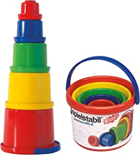 Spielstabil Nesting Stacker - Sturdy 5 Piece Set with Carry Handle (Made in Germany)