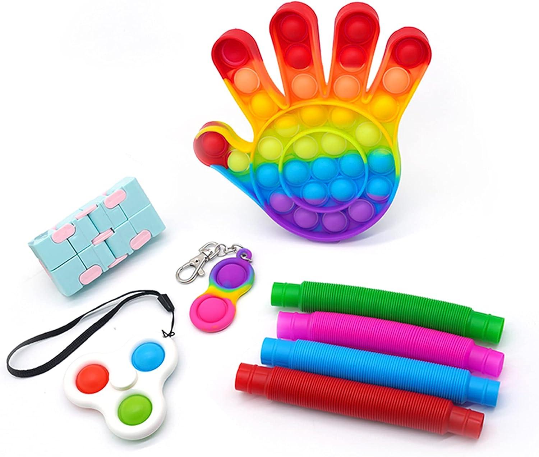 Pop It Fidget Toys Pack Rainbow PopIt Pop It Spinner Popits Fidg