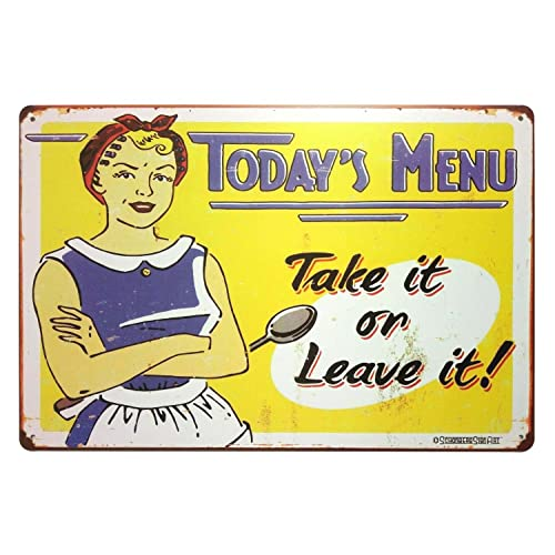 Exceptionnel ERLOOD Todayu0027s Menu Take It Or Leave It Retro Vintage Decor Metal Tin Sign  12X 8