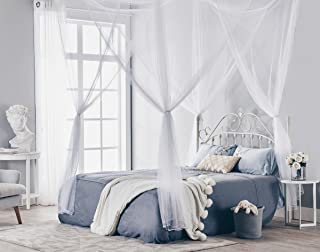 Truedays Four Corner Post Bed Princess Canopy Mosquito Net, Full/Queen/King Size