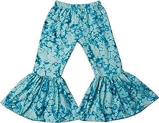 QLIyang Girls Ruffle Leggings Leopard Print Bell Bottoms Flare Pants