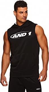 AND1 Men's Hoodie Muscle Tank Top - Sleeveless Workout & Training Activewear Gym Shirt
