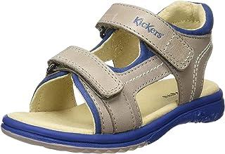 8 UK Marine 10 Blue Kickers Boys/' Platino Open Toe Sandals