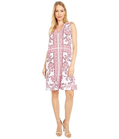 MICHAEL Michael Kors Ruffle Neck Dress (Shell Pink) Women