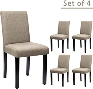 Furniwell Dining Chairs Fabric Upholstered Parson Urban...