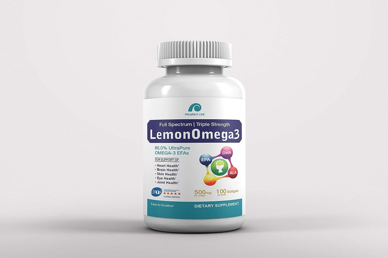 Prospect free Life LemonOmega3 Full Max 43% OFF 90.0% Spectrum Strength Triple
