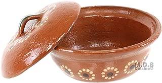 Salsero de Barro with Lid & Traditional Salsa Bowl Chip & Dip Molcajete Sauce Mexican
