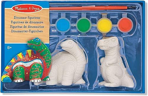 Melissa & Doug 14245 - Zum Selbstdekorieren Dinosaurier-Figürchen