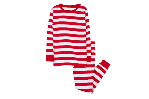 903ee1d8e302 Leveret Kids Christmas Pajamas Boys Girls   Toddler Pajamas Red White Green  2 Piece Pjs Set 100% Cotton (12 Months-14 Years)