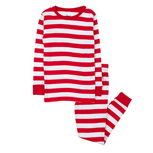 Leveret Kids Christmas Pajamas Boys Girls   Toddler Pajamas Red White Green  2 Piece Pjs Set 62e39a6ba